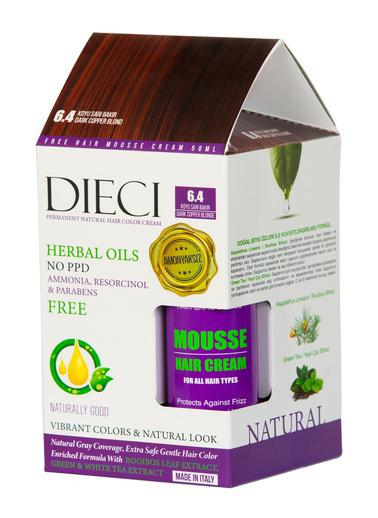 Dıecı Dıecı Kit Amonyaksız Natural Saç Boyası 6.4 Koyu Sarı Bakır Sarı